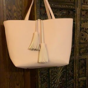 Blush bag in a bag lg tote with smaller crossbody